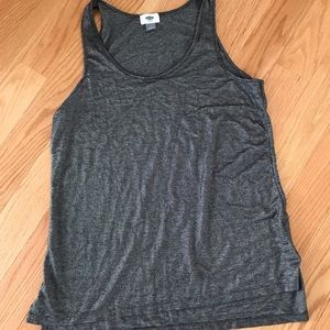 Black and silver Old Navy tank top